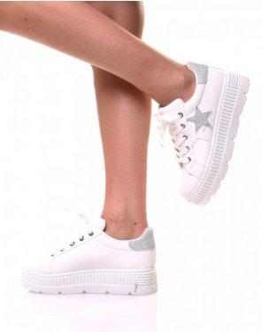 Baskets blanches étoile