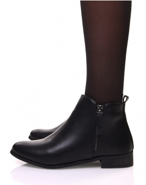 Bottines plates noires