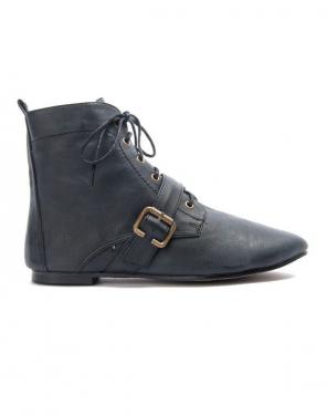 Chaussure femme Bruna Rossi: Bottine plate - noir