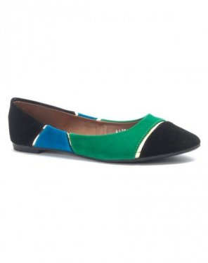 Chaussure femme Jolyvia: Ballerine multi couleur noire