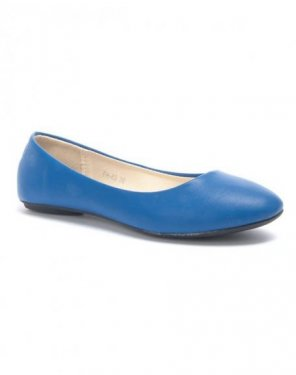 Chaussure femme Style Shoes: Ballerine bleue