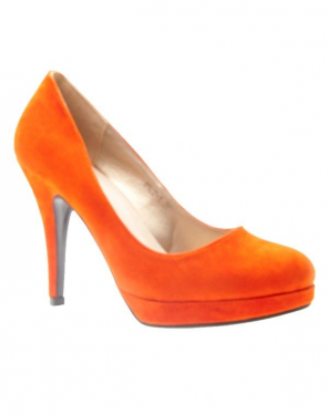 Chaussures femme C.H. Creation: Escarpins Orange en suédine
