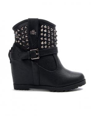 Chaussures femme Libra Pop: Bottine compensé - noir