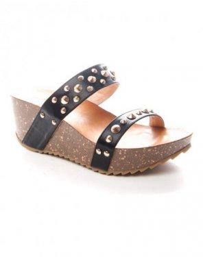 Chaussures femme Sinly: Sabot clouté noir