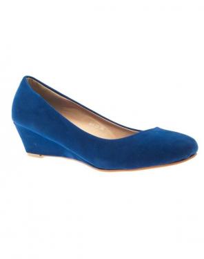 Chaussures femme Style Shoes: escarpins compensés bleu