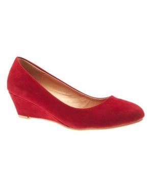 Chaussures femme Style Shoes: escarpins compensés rouge
