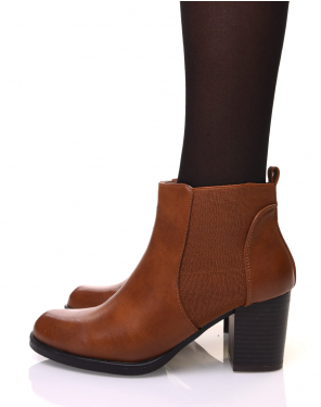 Chelsea boots camels à talon