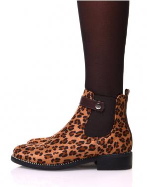 Chelsea boots imprimé léopard