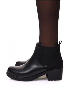 Chelsea boots noires semelles épaisses