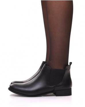 Chelsea boots noirs plates