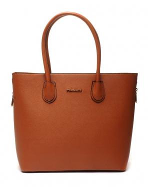 Grand sac à main camel Flora&Co