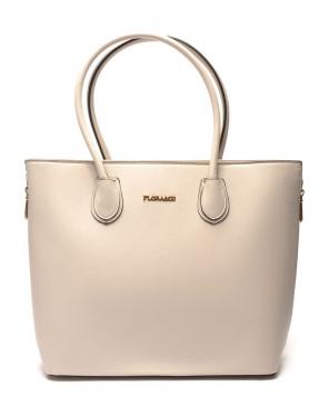 Grand sac à main gris clair Flora&Co