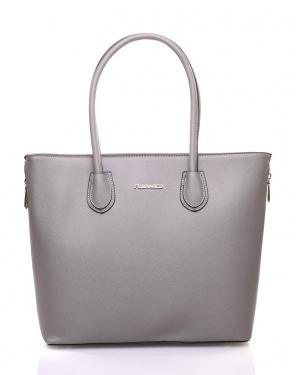 Grand sac à main gris Flora&Co