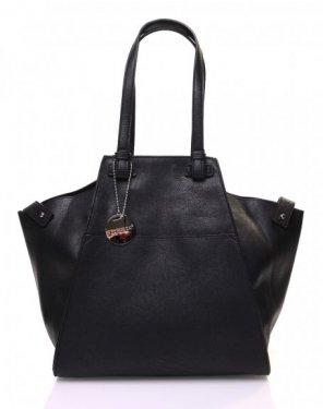 Grand sac noir de forme triangulaire ajustable