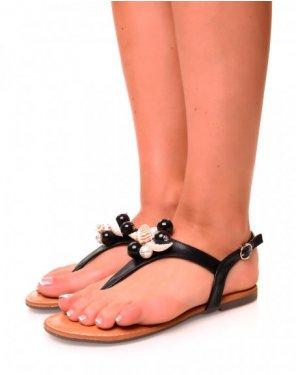 Nu-pieds noirs à coquillage