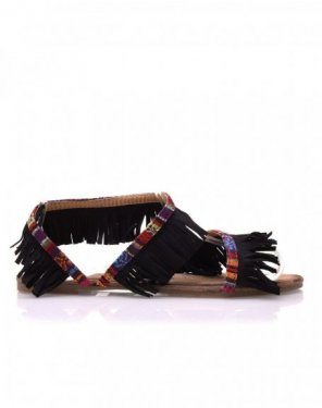 Nu-pieds noirs à franges