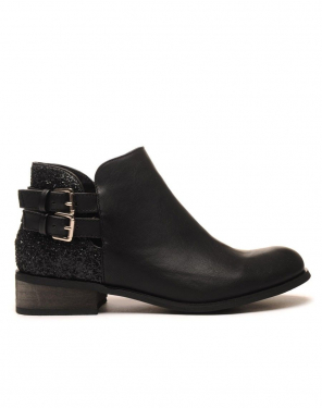 Original low boots noir pailleté