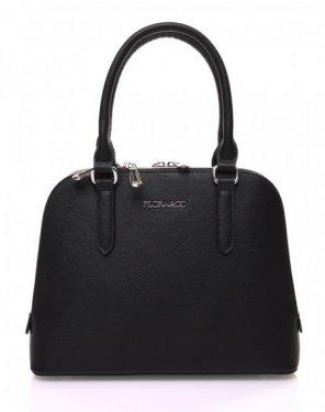 Petit sac à main noir arrondi à doubles compartiments