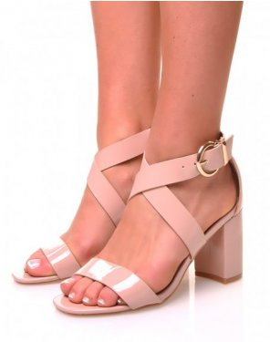 Sandale rose vernis