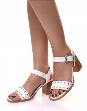 Sandales Blanche à petit talon