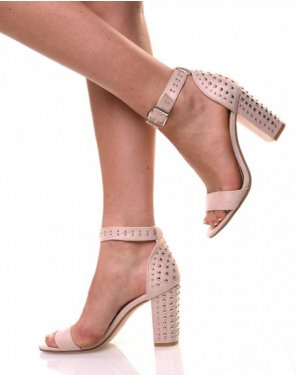 Sandales cloutées beiges