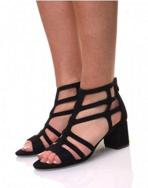 Sandales noires à lanières