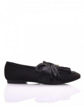 Slippers noires à noeud