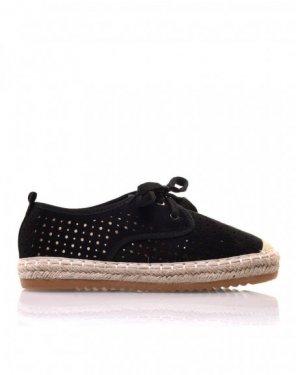 Sneakerdrilles noires en suédine