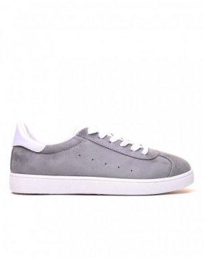 Sneakers en suédine grises
