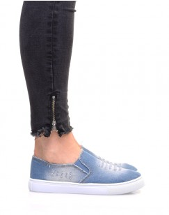 Tennis en jean bleu clair