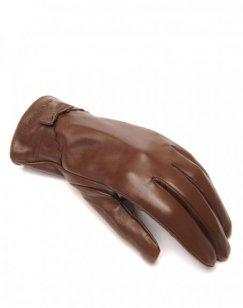Gants en cuir chocolat LuluCastagnette noeud