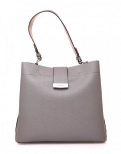 Grand sac à main gris à lanière aimante