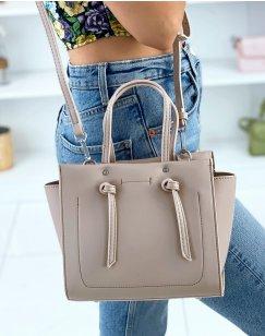 Matte beige shoulder bag