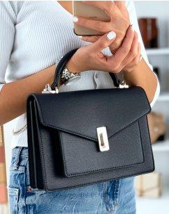 Midnight blue satchel style handbag
