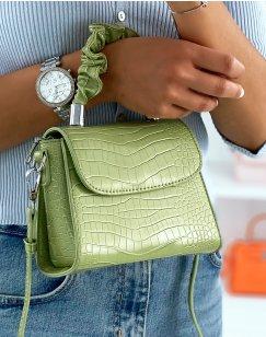 Mini sac vert à anse froncée