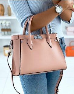 Old pink handbag
