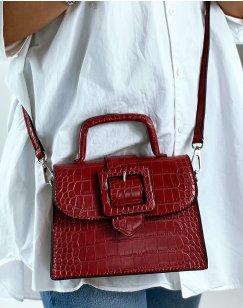 Red shoulder bag with big strap