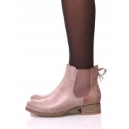 Chelsea Boots roses à nœuds
