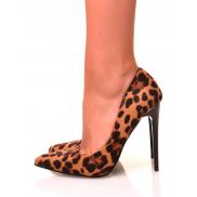 Escarpins léopards à talons aiguilles