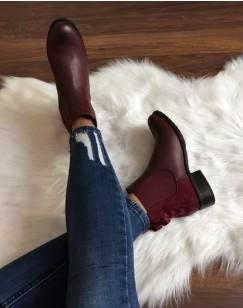 Chelsea boots bordeaux à n?uds