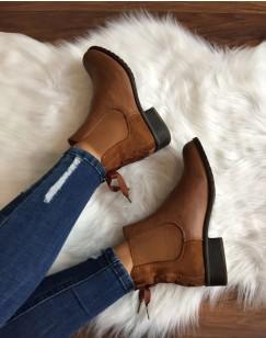 Chelsea boots camel à n?uds