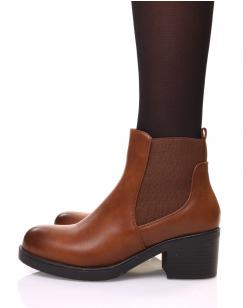Chelsea boots camel à talon