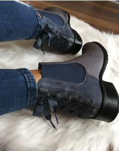 Chelsea boots grises à n?uds