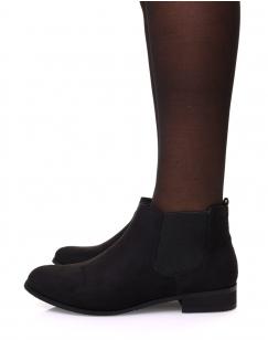 Chelsea boots noir en suédine