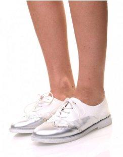 Derbies blanches effet suédine