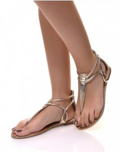 Nu-pieds graphique or