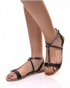 Nu-pieds noirs effet écaillés
