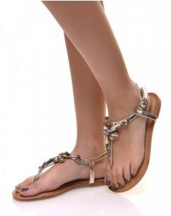 Nu-pieds or ornés de bijoux