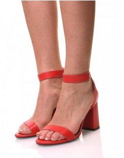 Sandales rouges