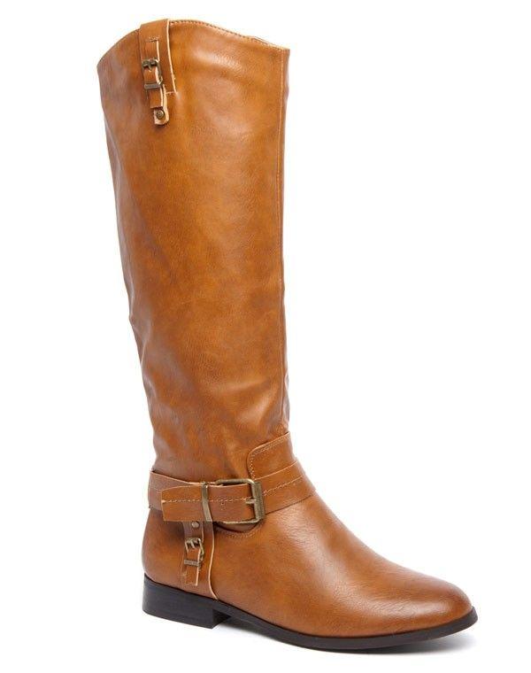design de qualité b5085 8d324 Botte cuissarde Alicia Shoes camel, brides style cavalier à boucle patinée